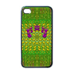 Flowers And Yoga In The Wind Apple Iphone 4 Case (black) by pepitasart