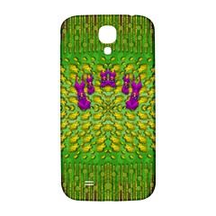 Flowers And Yoga In The Wind Samsung Galaxy S4 I9500/i9505  Hardshell Back Case by pepitasart