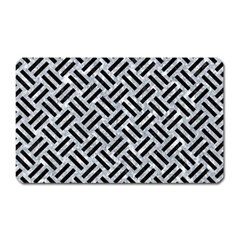 Woven2 Black Marble & Gray Marble (r) Magnet (rectangular) by trendistuff