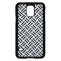 Woven2 Black Marble & Gray Marble (r) Samsung Galaxy S5 Case (black) by trendistuff