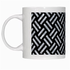 Woven2 Black Marble & Gray Marble White Mug by trendistuff