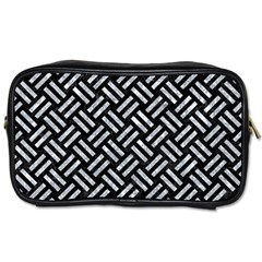 Woven2 Black Marble & Gray Marble Toiletries Bag (two Sides) by trendistuff