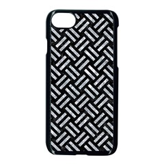 Woven2 Black Marble & Gray Marble Apple Iphone 7 Seamless Case (black)
