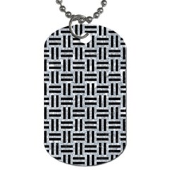 Woven1 Black Marble & Gray Marble (r) Dog Tag (two Sides) by trendistuff