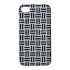 Woven1 Black Marble & Gray Marble (r) Apple Iphone 4/4s Hardshell Case With Stand by trendistuff