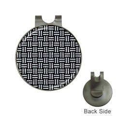 Woven1 Black Marble & Gray Marble Golf Ball Marker Hat Clip