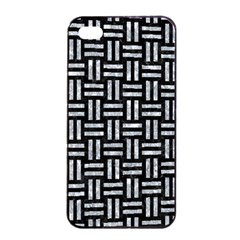 Woven1 Black Marble & Gray Marble Apple Iphone 4/4s Seamless Case (black) by trendistuff