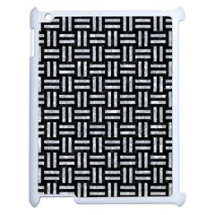 Woven1 Black Marble & Gray Marble Apple Ipad 2 Case (white) by trendistuff