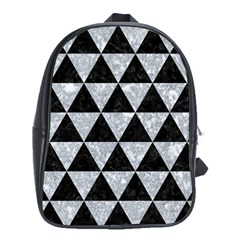 Triangle3 Black Marble & Gray Marble School Bag (xl) by trendistuff