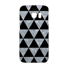 Triangle3 Black Marble & Gray Marble Samsung Galaxy S6 Edge Hardshell Case by trendistuff