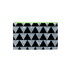 Triangle2 Black Marble & Gray Marble Cosmetic Bag (xs) by trendistuff