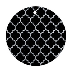 Tile1 Black Marble & Gray Marble Round Ornament (two Sides) by trendistuff