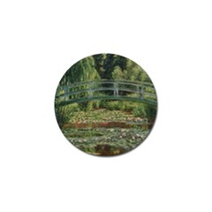 The Japanese Footbridge By Claude Monet Golf Ball Marker (10 Pack) by ArtMuseum