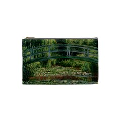 The Japanese Footbridge By Claude Monet Cosmetic Bag (small)  by ArtMuseum