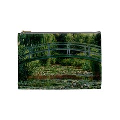 The Japanese Footbridge By Claude Monet Cosmetic Bag (medium)  by ArtMuseum