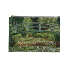 The Japanese Footbridge By Claude Monet Cosmetic Bag (large)  by ArtMuseum