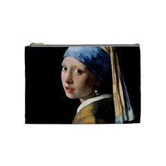 Girl With A Pearl Earring Cosmetic Bag (medium)  by ArtMuseum