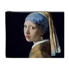 Girl With A Pearl Earring Cosmetic Bag (xl) by ArtMuseum