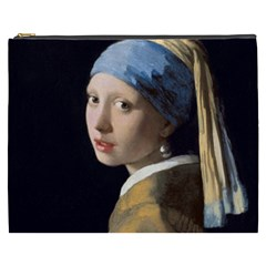 Girl With A Pearl Earring Cosmetic Bag (xxxl)  by ArtMuseum