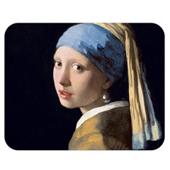 Girl With A Pearl Earring Double Sided Flano Blanket (medium)  by ArtMuseum