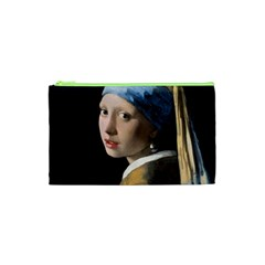Girl With A Pearl Earring Cosmetic Bag (xs) by ArtMuseum