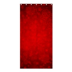 Decorative Red Christmas Background With Snowflakes Shower Curtain 36  X 72  (stall)