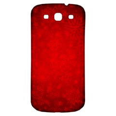 Decorative Red Christmas Background With Snowflakes Samsung Galaxy S3 S Iii Classic Hardshell Back Case by TastefulDesigns