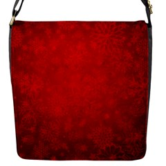 Decorative Red Christmas Background With Snowflakes Flap Messenger Bag (s) by TastefulDesigns