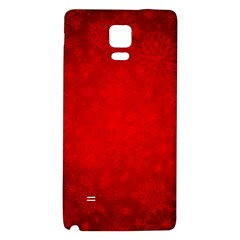 Decorative Red Christmas Background With Snowflakes Galaxy Note 4 Back Case by TastefulDesigns