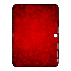 Decorative Red Christmas Background With Snowflakes Samsung Galaxy Tab 4 (10 1 ) Hardshell Case  by TastefulDesigns