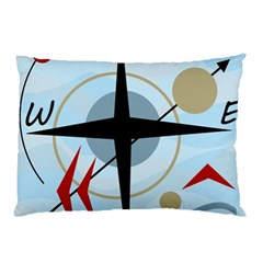 Compass Pillow Case (two Sides)