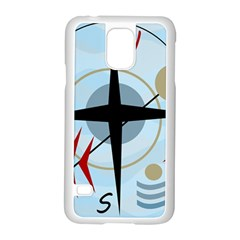 Compass Samsung Galaxy S5 Case (white) by Valentinaart