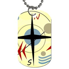 Compass 3 Dog Tag (one Side) by Valentinaart