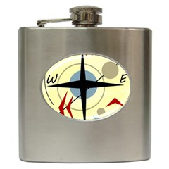 Compass 3 Hip Flask (6 Oz) by Valentinaart
