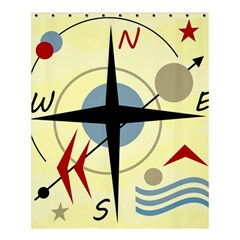 Compass 3 Shower Curtain 60  X 72  (medium)  by Valentinaart