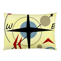 Compass 3 Pillow Case (two Sides) by Valentinaart