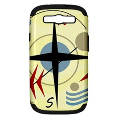 Compass 3 Samsung Galaxy S Iii Hardshell Case (pc+silicone) by Valentinaart