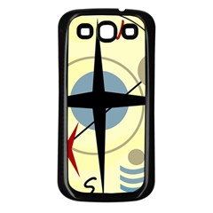 Compass 3 Samsung Galaxy S3 Back Case (black) by Valentinaart