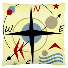 Compass 3 Standard Flano Cushion Case (one Side) by Valentinaart