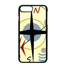 Compass 3 Apple Iphone 7 Plus Seamless Case (black) by Valentinaart