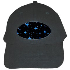 Bright Blue  Stars In Space Black Cap by Costasonlineshop
