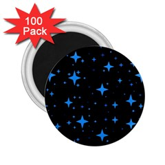 Bright Blue  Stars In Space 2 25  Magnets (100 Pack)  by Costasonlineshop