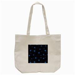 Bright Blue  Stars In Space Tote Bag (cream) by Costasonlineshop