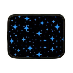 Bright Blue  Stars In Space Netbook Case (small)  by Costasonlineshop