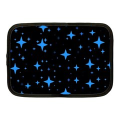 Bright Blue  Stars In Space Netbook Case (medium)  by Costasonlineshop