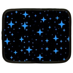 Bright Blue  Stars In Space Netbook Case (large) by Costasonlineshop