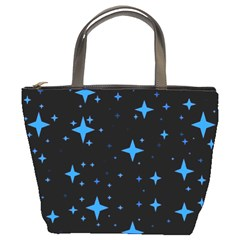 Bright Blue  Stars In Space Bucket Bags by Costasonlineshop