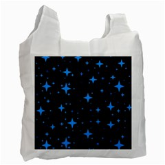 Bright Blue  Stars In Space Recycle Bag (two Side)  by Costasonlineshop