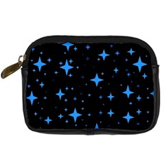 Bright Blue  Stars In Space Digital Camera Cases by Costasonlineshop