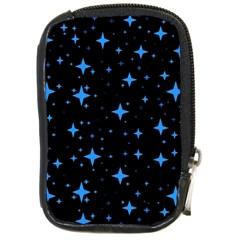 Bright Blue  Stars In Space Compact Camera Cases by Costasonlineshop